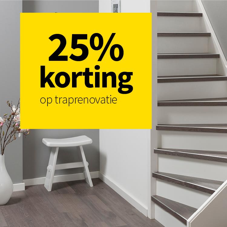 NL 25% korting traprenovatie